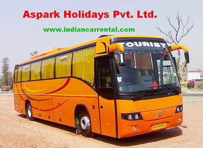 28 Seater Volvo bus hire in Delhi,luxury Volvo coach hire
